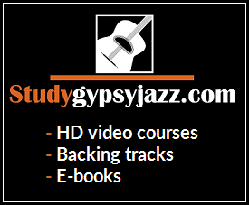 Study gypsy jazz guitar banner